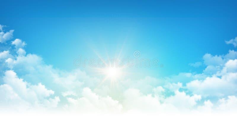 Światło słoneczne przez białych chmur fotografia stock