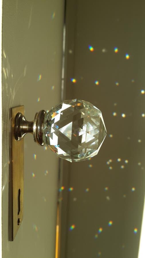 Światło słoneczne przez krystalicznej gałeczki obraz stock