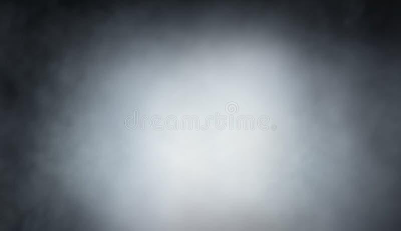 Światło - szarość dym na czarnym tło projekcie ilustracji