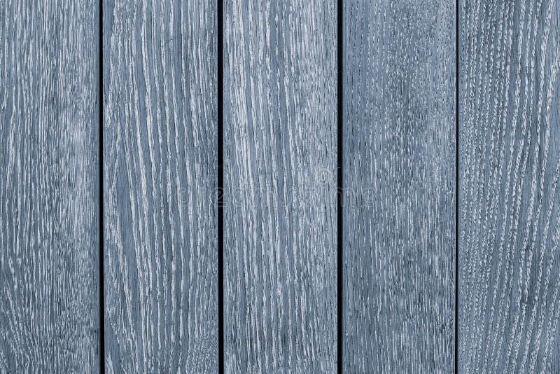 Światło - szary drewniany stół w górę Bławy drewniany malujący ogrodzenie Popielaty drewno deski tekstury tło Drewniana b??kitna  zdjęcia stock