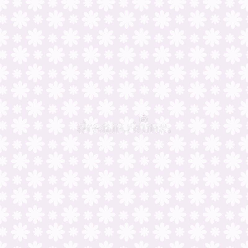Światło - szary prosty blady wielostrzałowy tło białych zaokrąglonych kwiatów wektorowy bezszwowy wzór ilustracja wektor