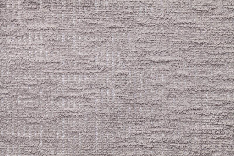 Światło - szary puszysty tło miękka część, wełnisty płótno Tekstura pluszowa owłosiona tkanina, zbliżenie zdjęcie stock