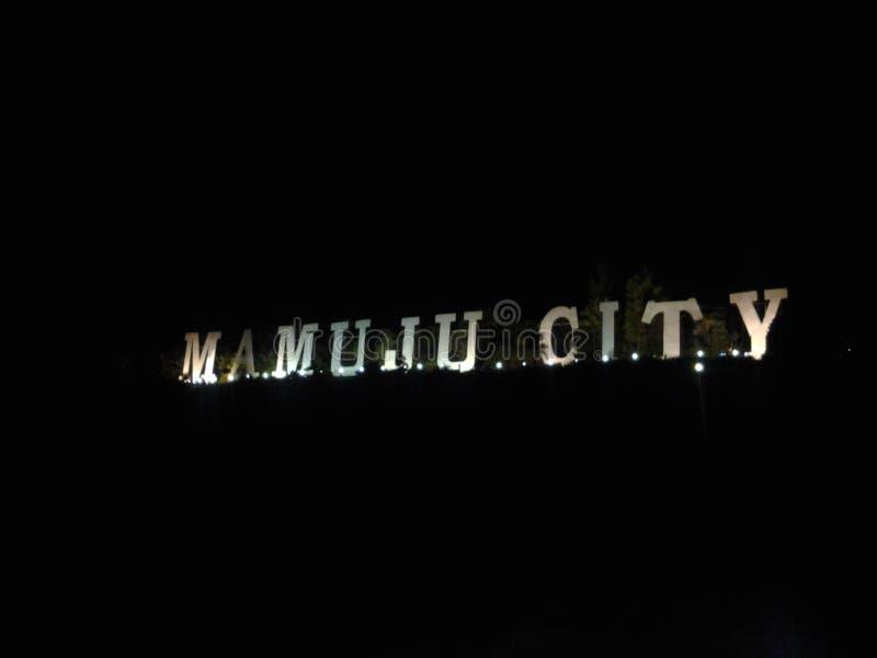 Światło w Mamuju mieście fotografia royalty free