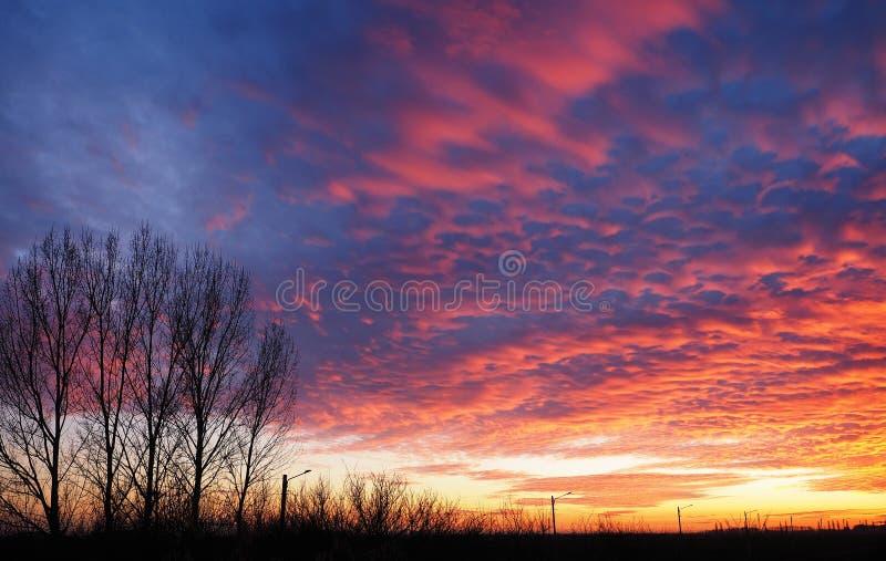 Światło zmierzch odbijał chmurami patrzeje jak piana zdjęcie royalty free