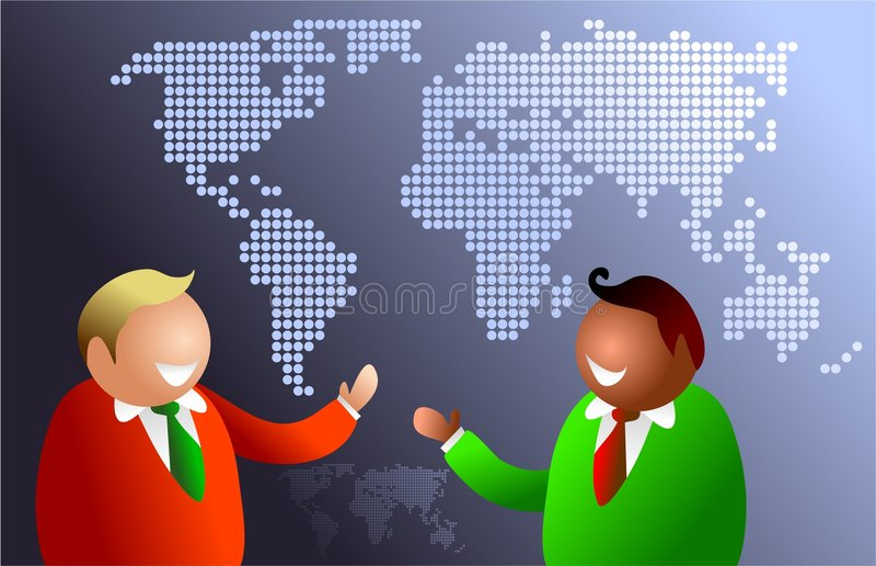 świat łączności royalty ilustracja