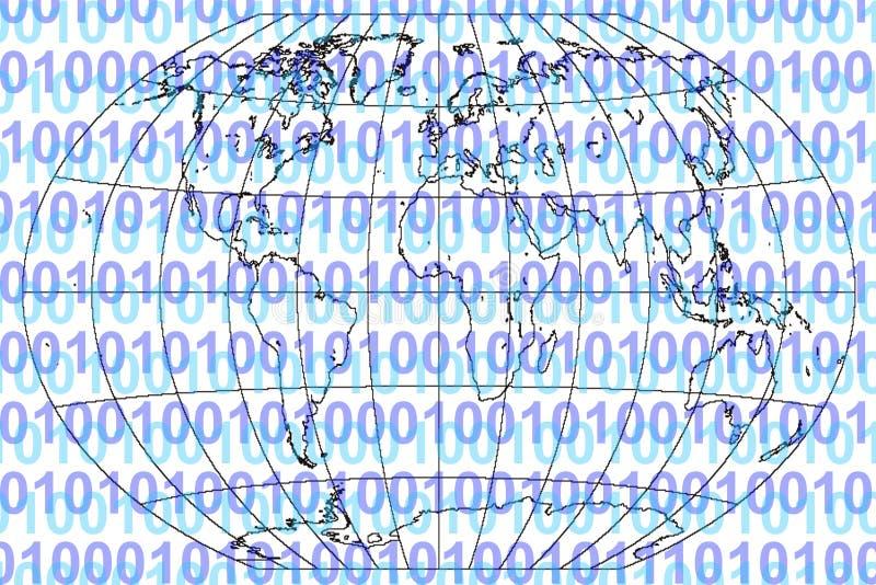 świat binarny ilustracji