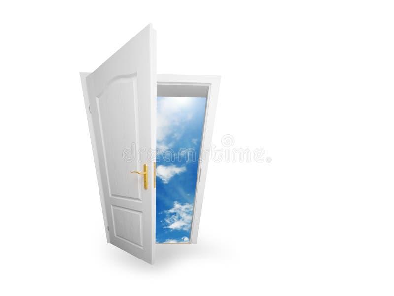 świat drzwiowy nowy niebo zdjęcia stock