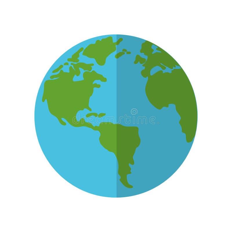świat ekologii ziemski cień ilustracji