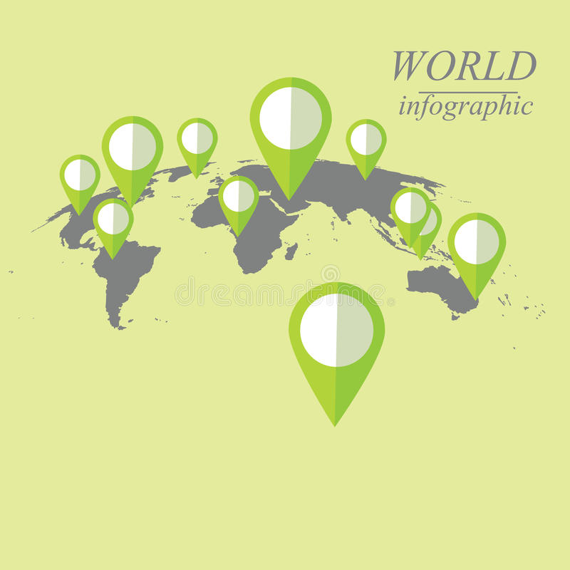 Świat infographic ilustracji