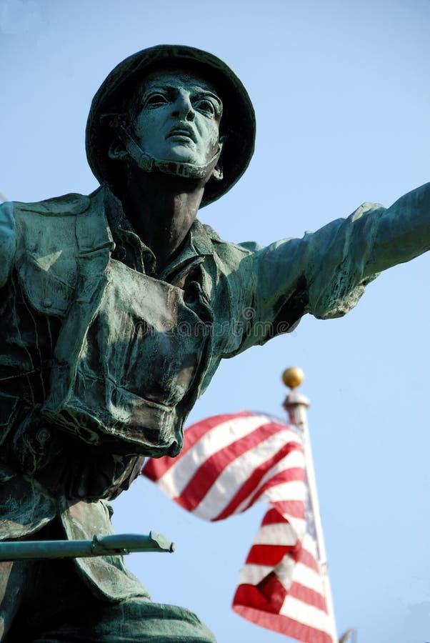 Świat Ja żołnierza pomnik Cape Cod fotografia royalty free