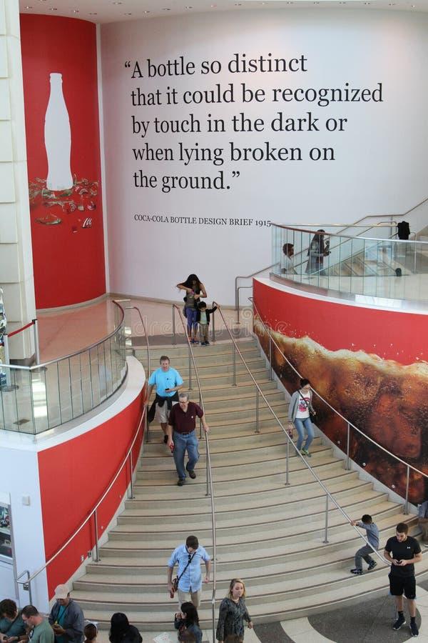 Świat koka-kola w Atlanta, dziąsła obraz stock