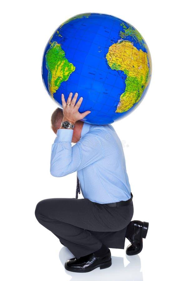Świat na twój ramionach zdjęcia royalty free