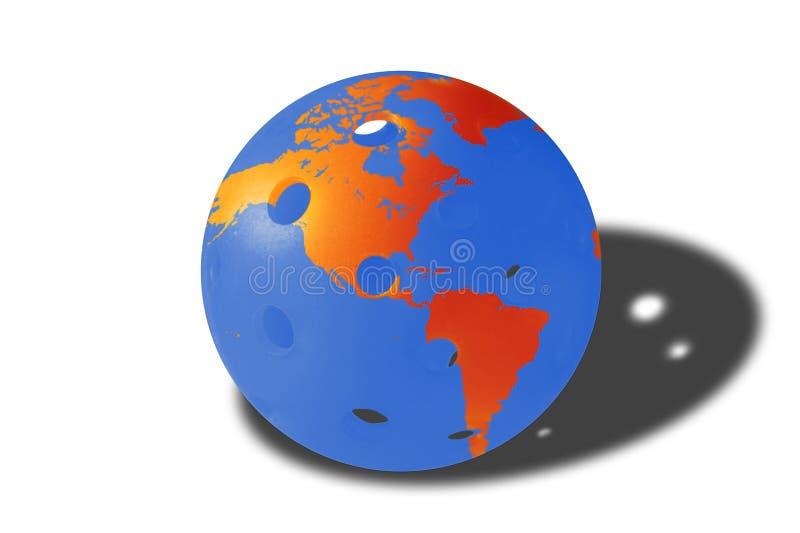 Świat Pickleball - piłka w Pomarańczowym i Błękitnym zdjęcia stock