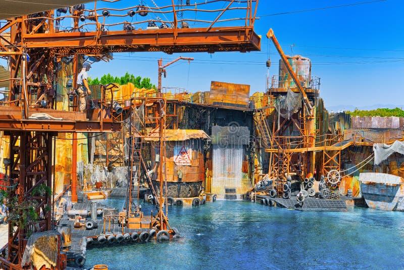 Świat sławny parkowy Universal Studios w Hollywood fotografia royalty free