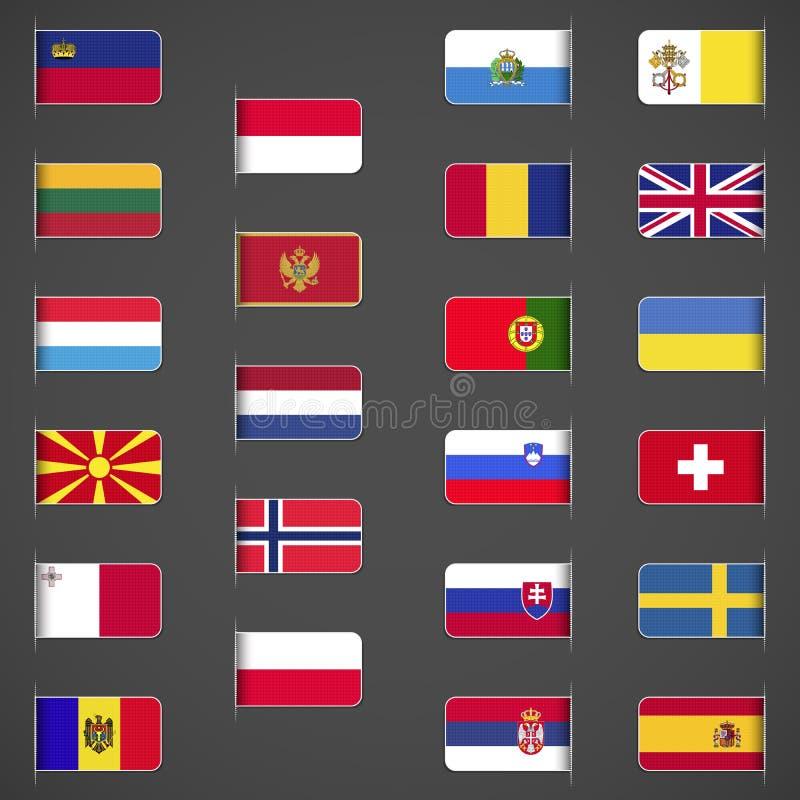 Świat zaznacza kolekcję, Europa, część 2 royalty ilustracja
