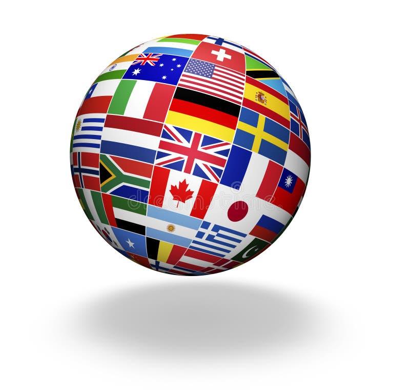 Świat Zaznacza Międzynarodowego biznes ilustracji