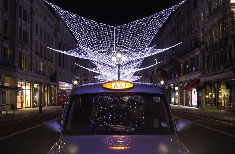 świateł London regent uliczny taxi zdjęcia royalty free