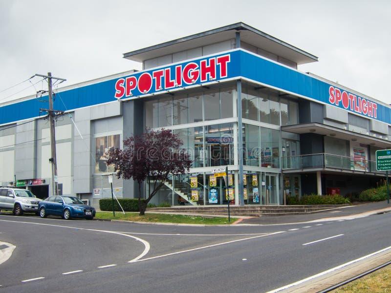 Świateł reflektorów homewares sklep w Australia zdjęcie stock