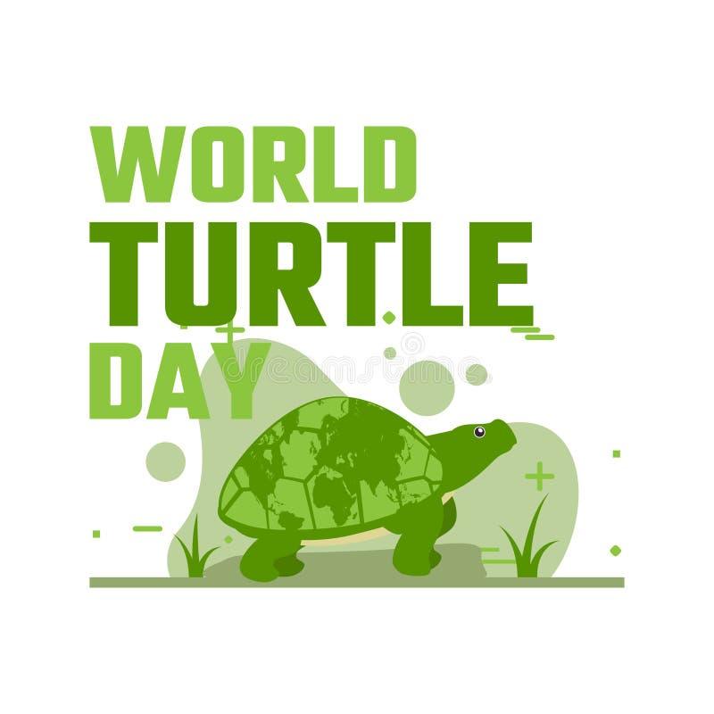 Światowa żółwia dnia kampania royalty ilustracja
