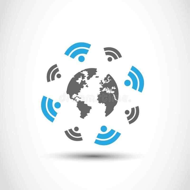 Światowa bezprzewodowa związek technologia ilustracja wektor