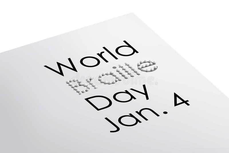 Światowa Braille dnia ilustracja ilustracji