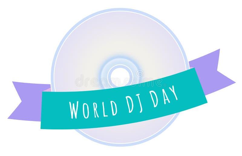 Światowa dj dnia ilustracja ilustracja wektor