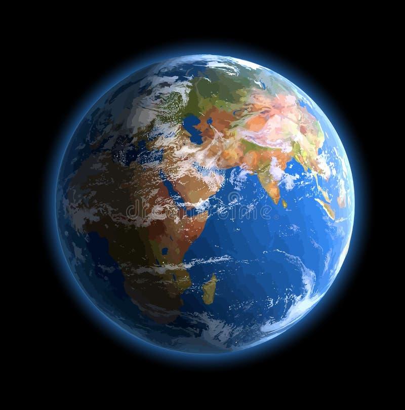Światowa kula ziemska.  Wektor royalty ilustracja