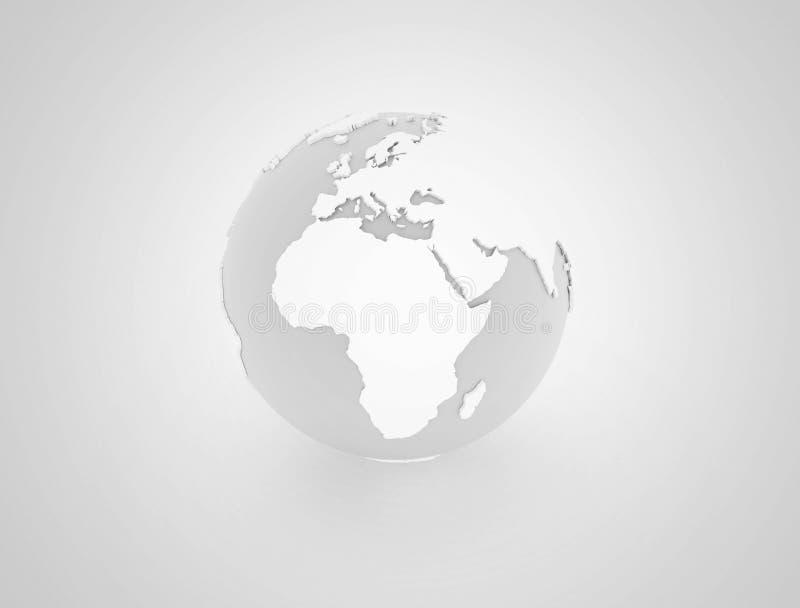 Światowa kuli ziemskiej 3d ilustracja royalty ilustracja