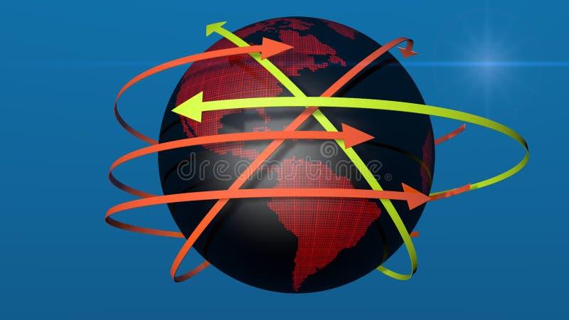 Światowa mapa łączy ilustracja wektor