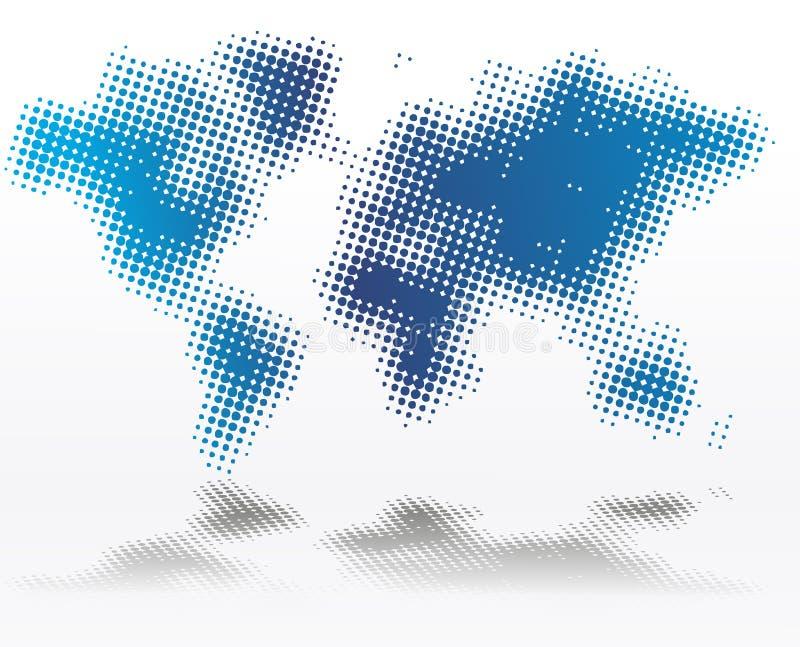 Światowa mapa zdjęcia stock