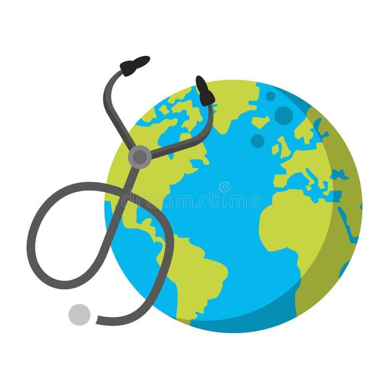 Åšwiatowa mapa globu ilustracja wektor