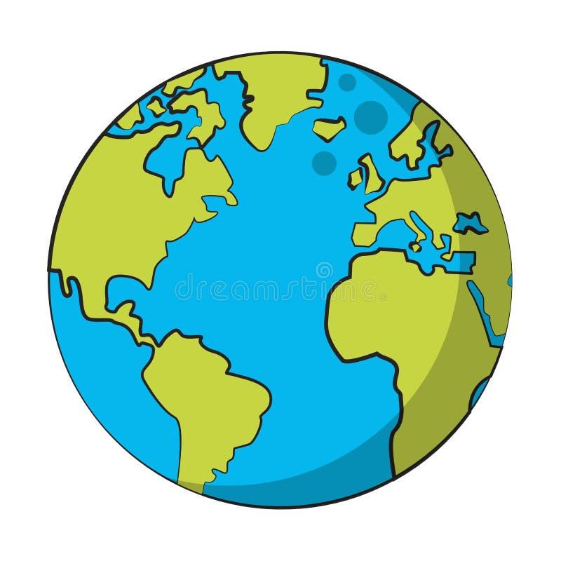 Åšwiatowa mapa globu ilustracji