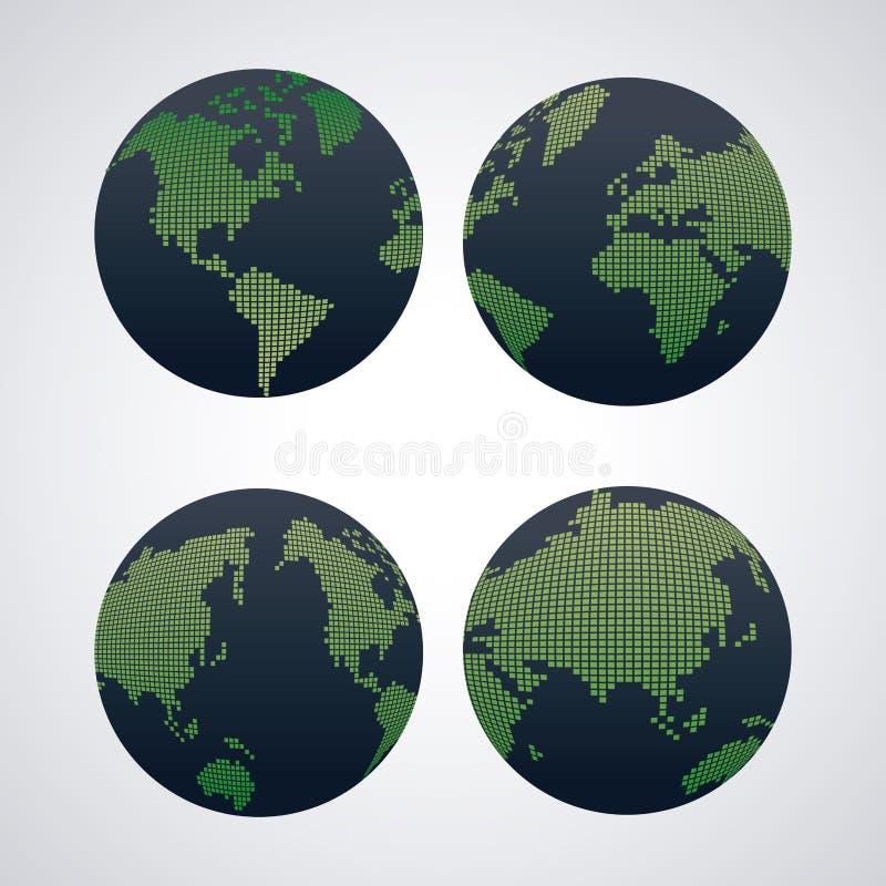 Światowa mapa infographic royalty ilustracja