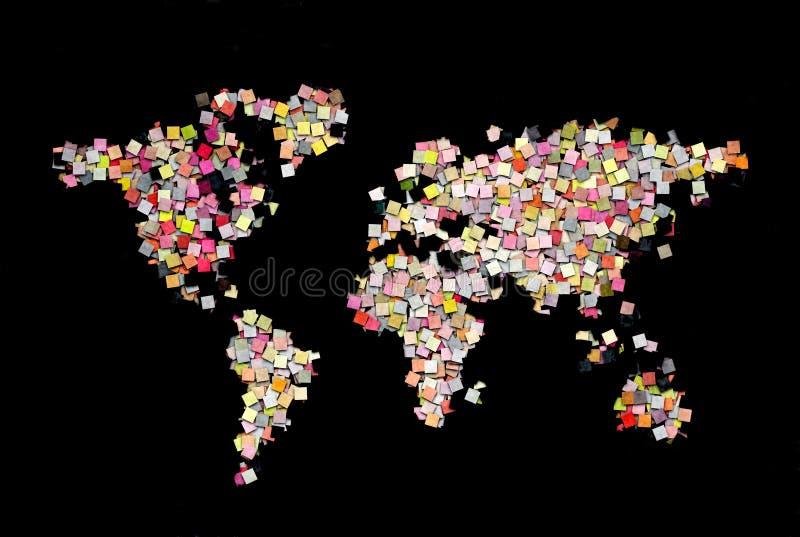 Światowa mapa kreatywnie ilustracja wektor