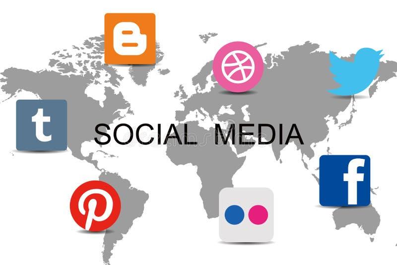 Światowa ogólnospołeczna sieć ilustracja wektor