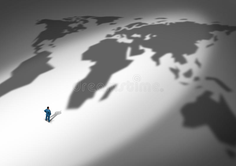Światowa strategia biznesowa royalty ilustracja