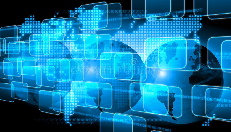 Światowa technologia obraz stock