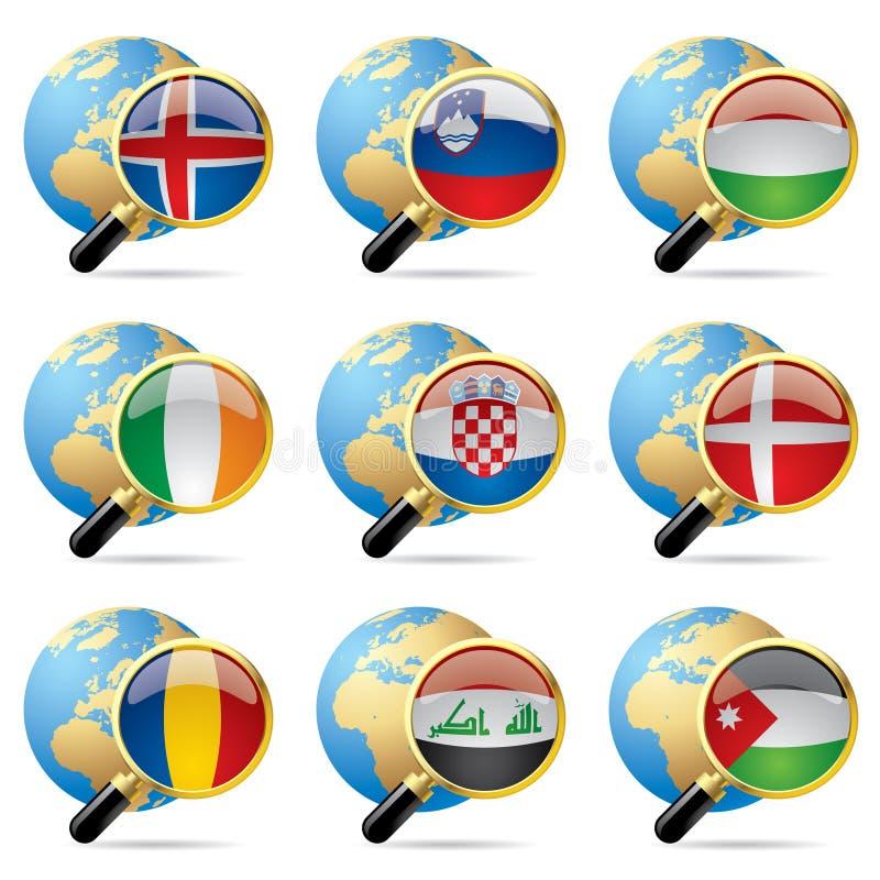 światowe chorągwiane ikony