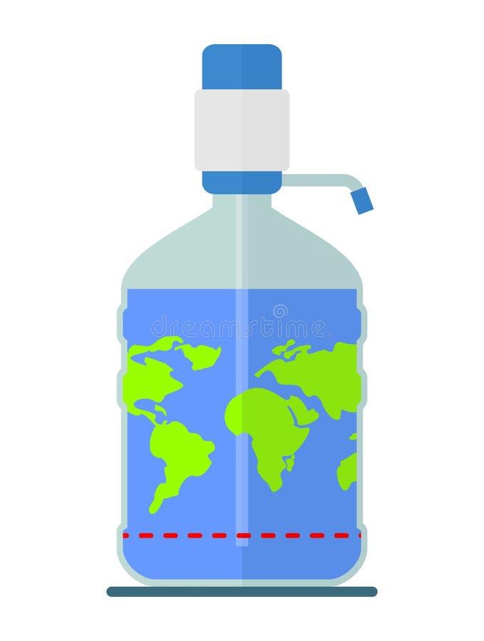 Światowe rezerwy woda pitna na planety ziemi ilustracji