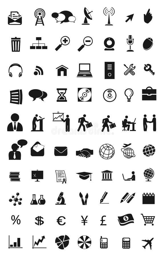 światowe teletechniczne ikony ilustracja wektor