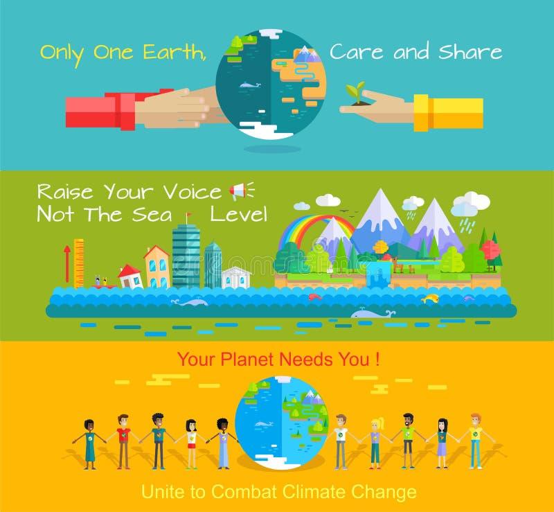 Światowego środowiska dnia pojęcie ilustracji