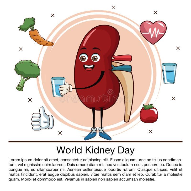 Światowego cynaderki dnia infographic kreskówka royalty ilustracja
