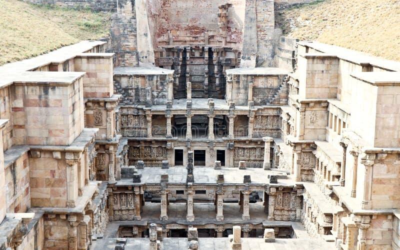 Światowego dziedzictwa miejsca rani ki vav India zdjęcia royalty free