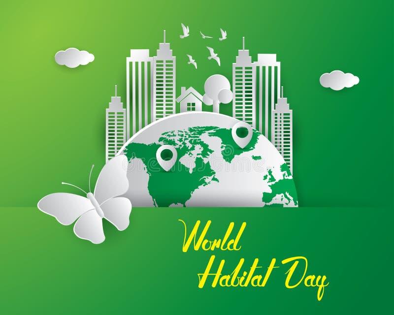 Światowego siedlisko dnia siedliska dnia ilustracyjna światowa ilustracja v ilustracja wektor