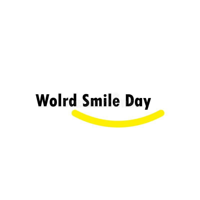 Światowego uśmiechu dnia świętowania szablonu projekta Wektorowa ilustracja royalty ilustracja