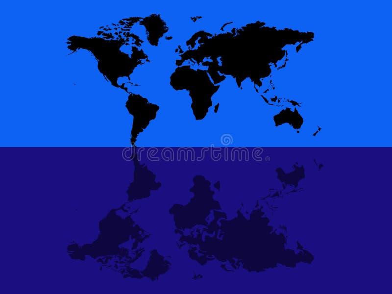 Światowej mapy błękita odbicie obraz royalty free