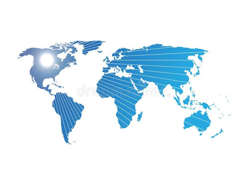 Światowej mapy ilustraci wektorowy abstrakcjonistyczny wzór obrazy royalty free