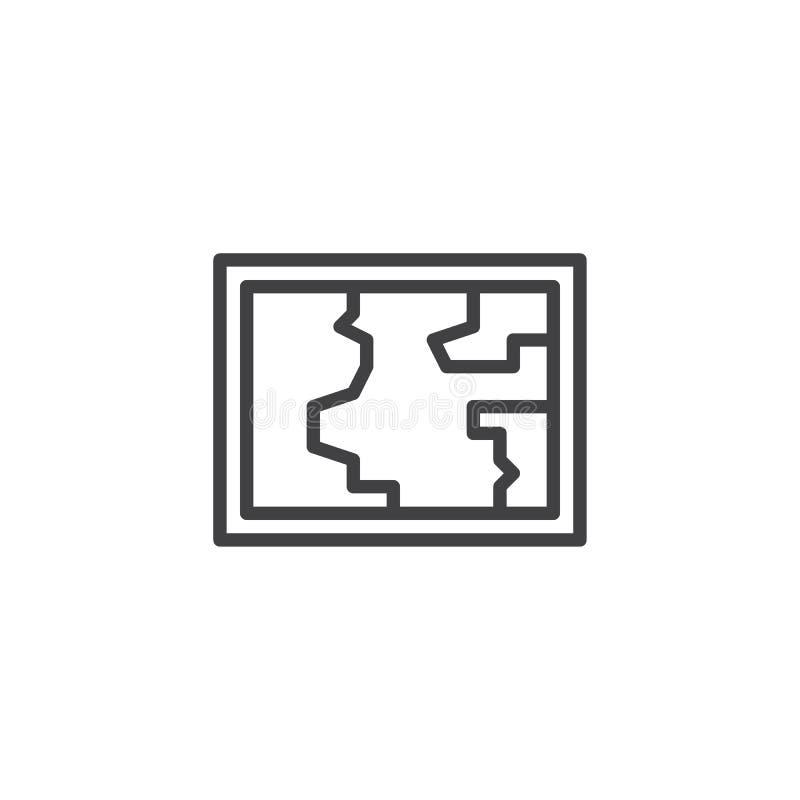Światowej mapy konturu ikona royalty ilustracja