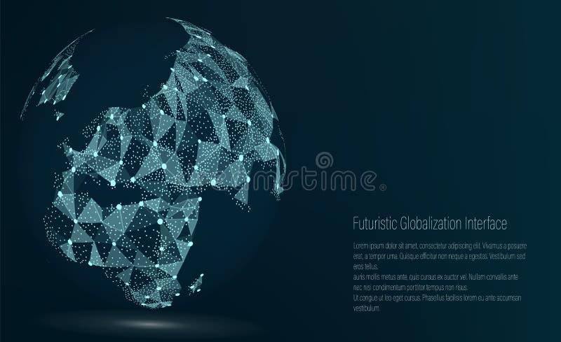 Światowej mapy punkt europejczycy również zwrócić corel ilustracji wektora Skład, Reprezentuje Globalnej sieci związek, zawody mi royalty ilustracja