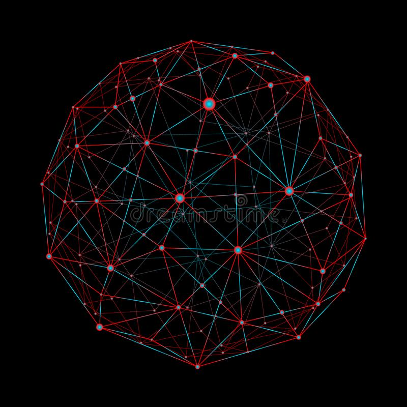 Światowej mapy punkt, linia, skład, reprezentuje globalnego, sieć związek, międzynarodowy znaczenie royalty ilustracja